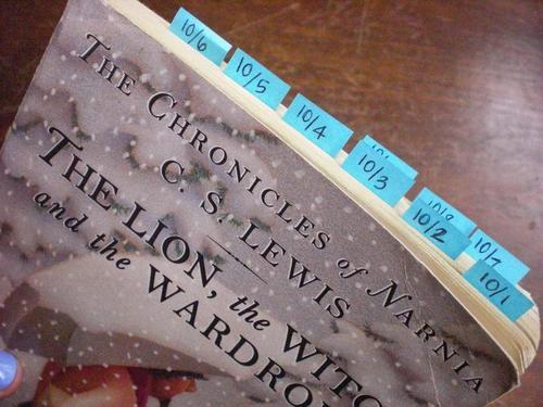 book tabbing