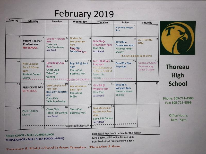 February Activity Schedule Featured Photo