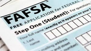 This photo depicts a close up image of the FAFSA form
