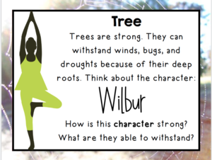Tree yoga description and questions on Wilbur