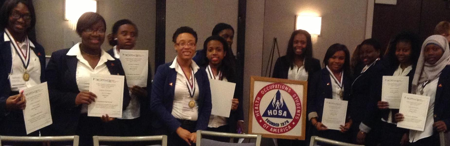 HOSA award winners