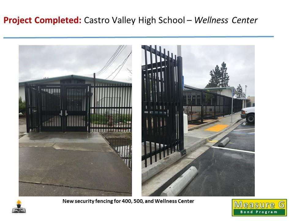CVHS - Wellness, 400 & 500 Security Fencing