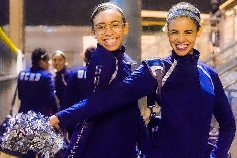Two Union City Drillettes smiling at the camera