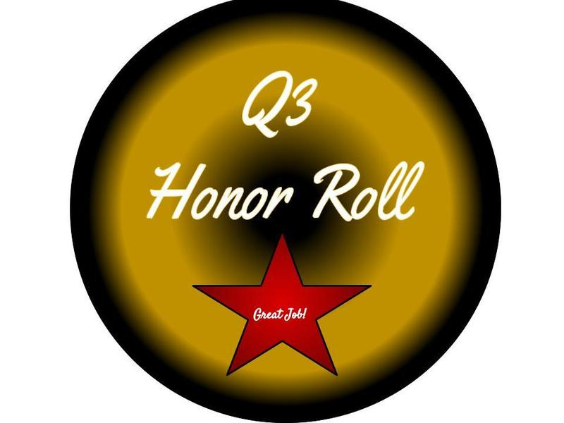 Q3 Honor Roll Featured Photo