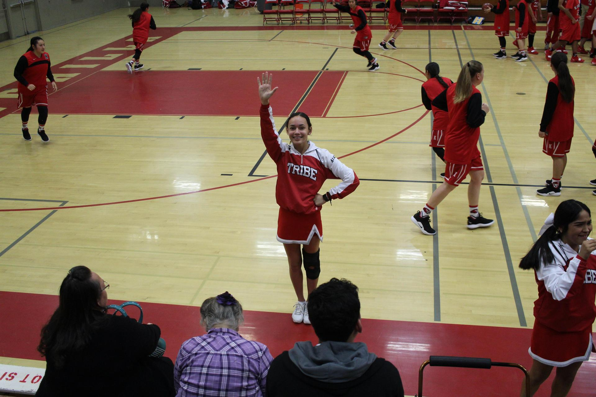 Athletes at Basketball Game vs Kerman