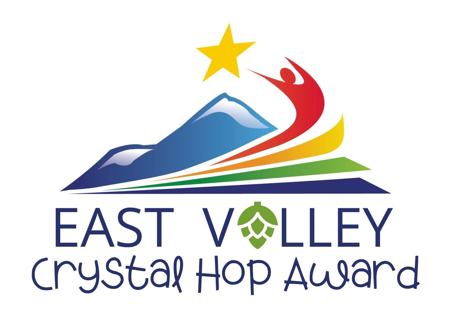 Crystal Hop Award with A in Valley replaced with a hop cone