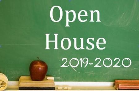Open House chalkboard