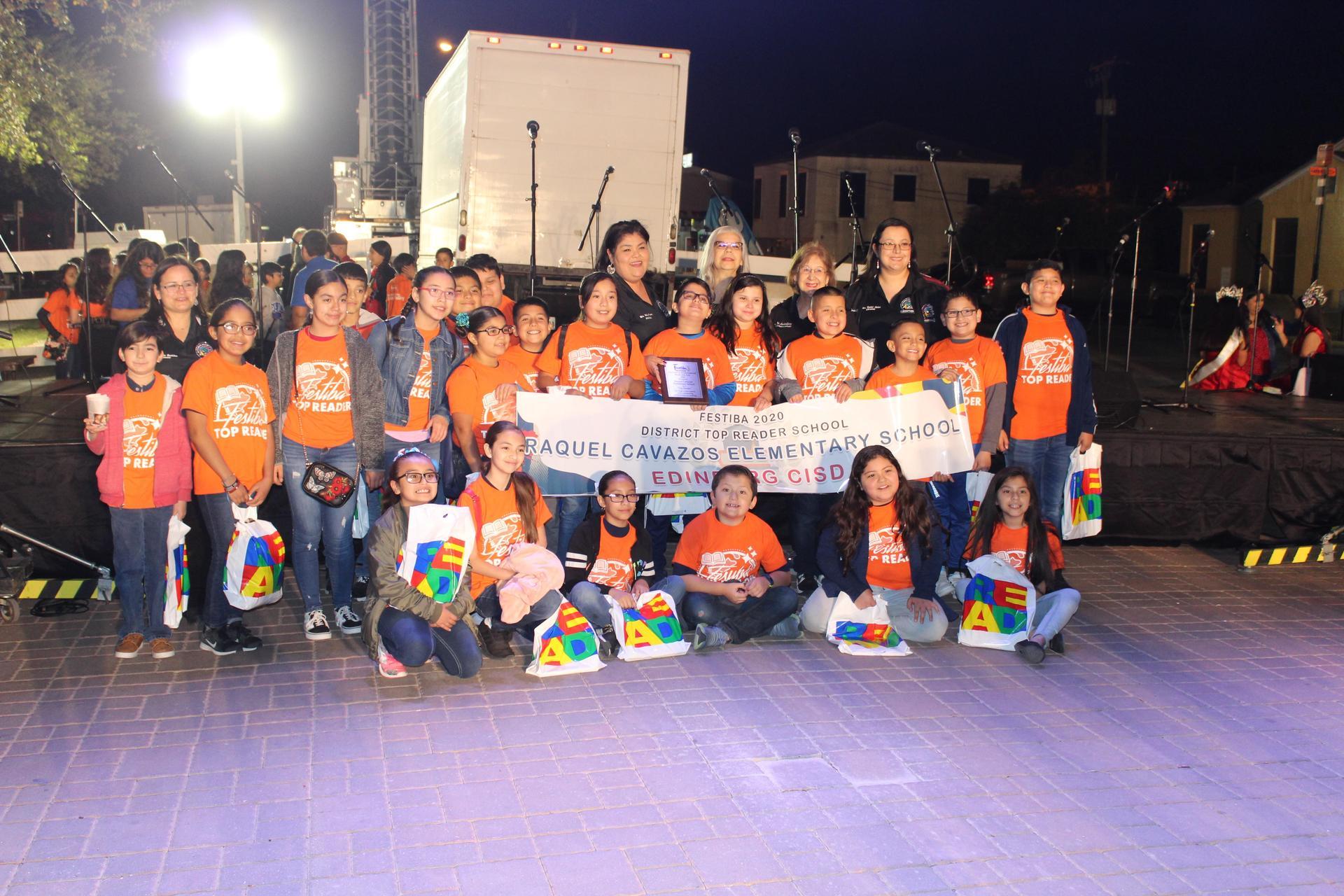 Cavazos students at FESTIBA with award