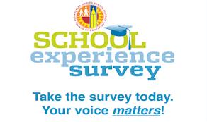 School Experience Survey/Encuesta de la experienca escolar Featured Photo