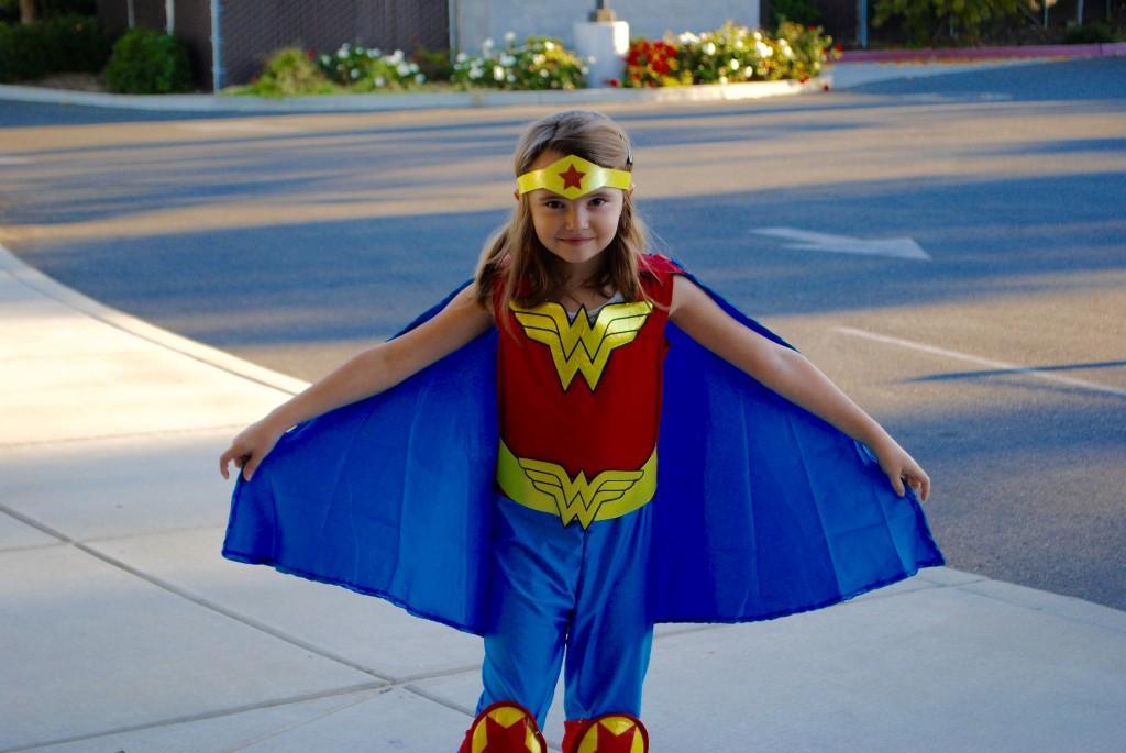 Student dressed up as wonder women