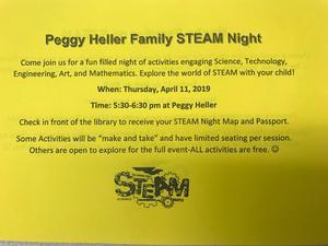 STEAM night English flyer