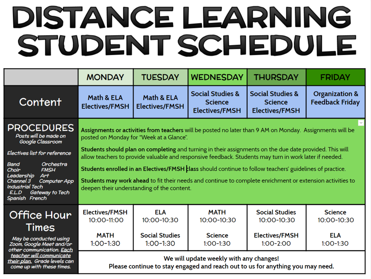 lms distance learning schedule