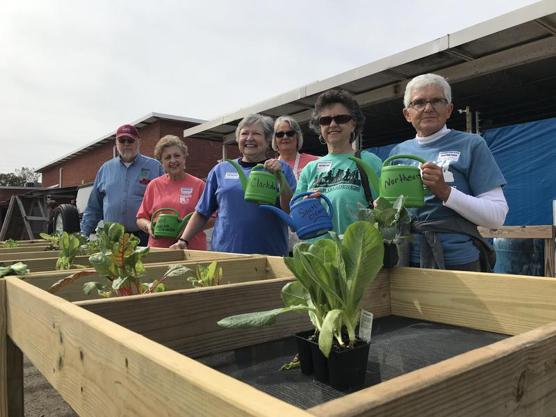 East Mississippi Master Gardeners donate salad tables to LCSD elementary schools.