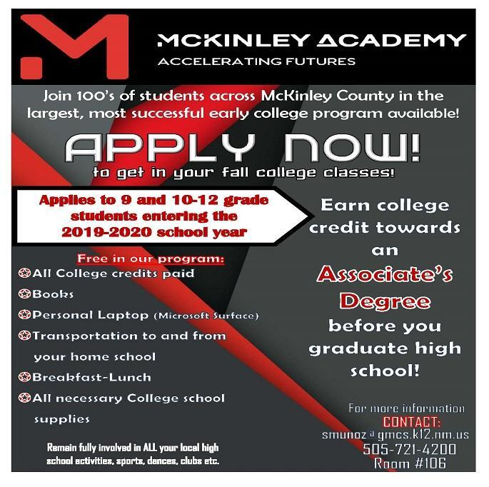 Apply now to McKinley Academy