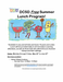 Summer lunch program flyer