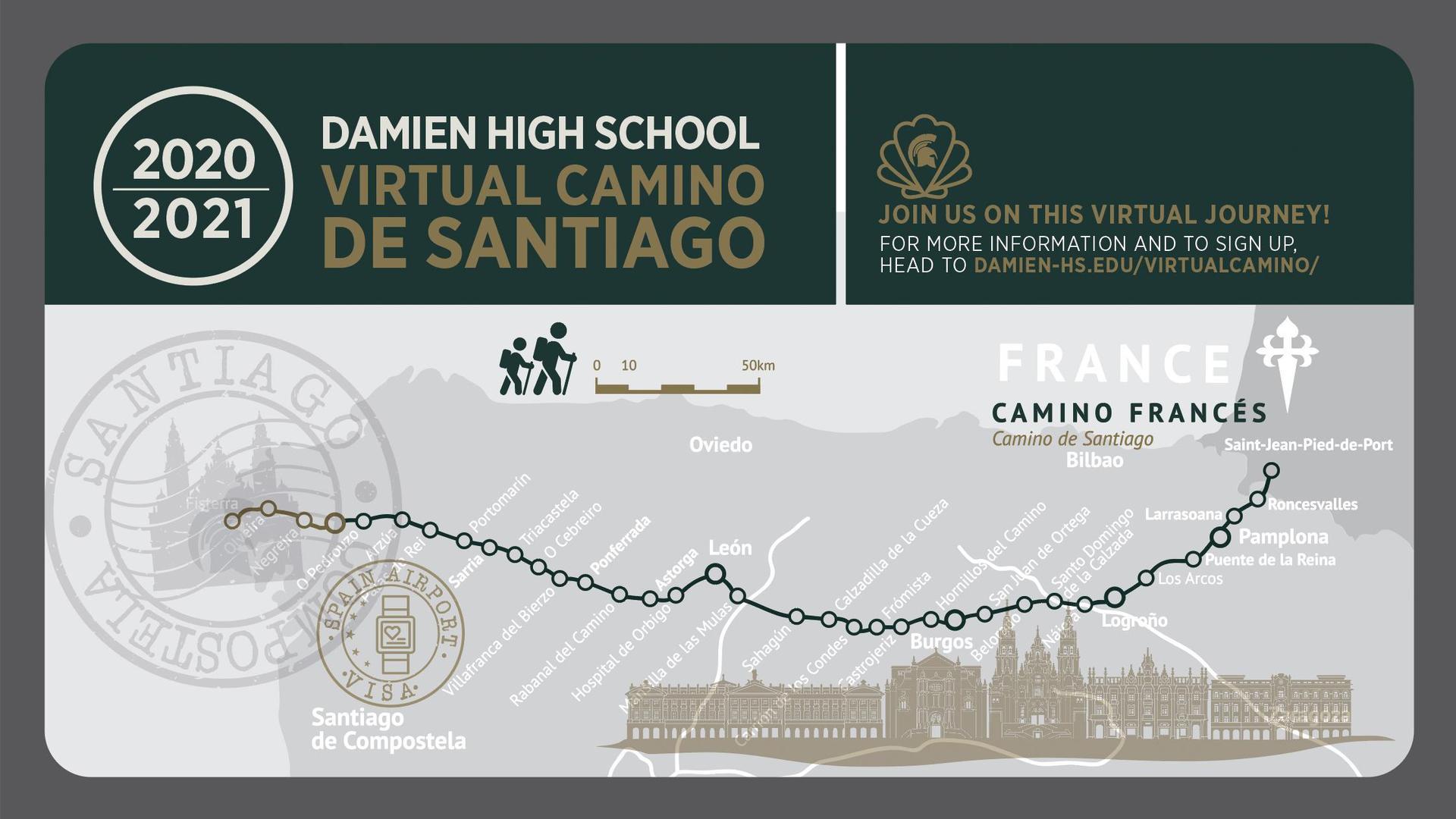 Virtual Camino de Santiago banner