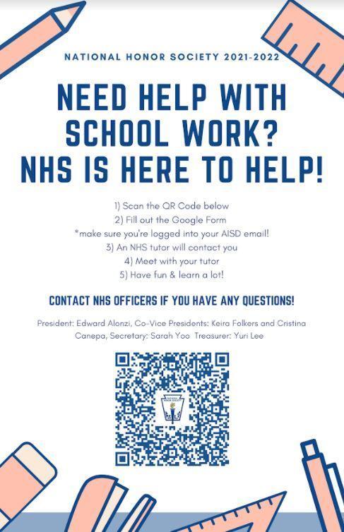 NHS Peer Tutoring Flyer