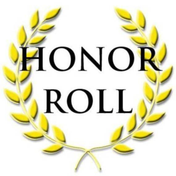 Laurel branches with honor roll text
