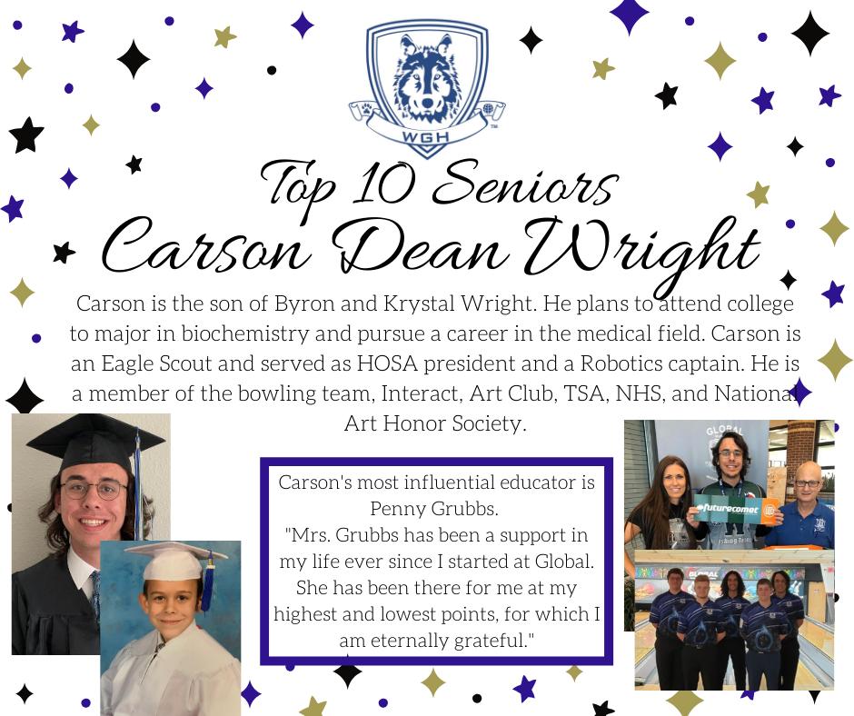 graphic of carson dean wright