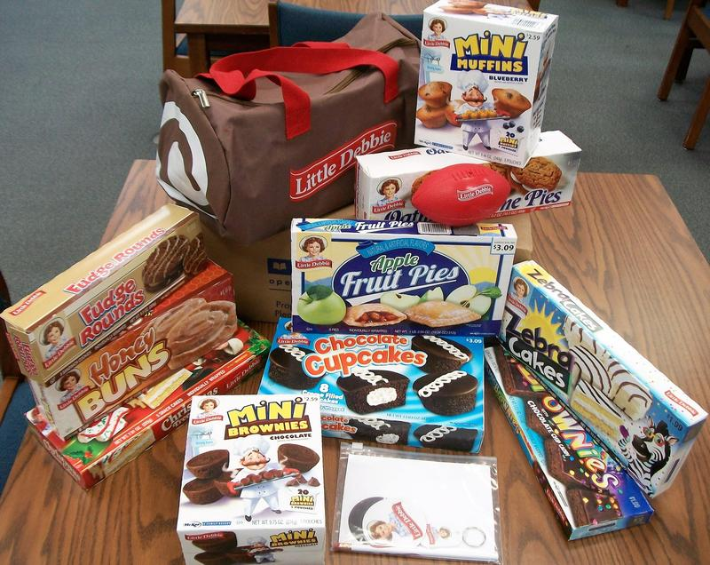 The Little Debbie Prize Pack that Mrs. Hepler won in the back to school contest.