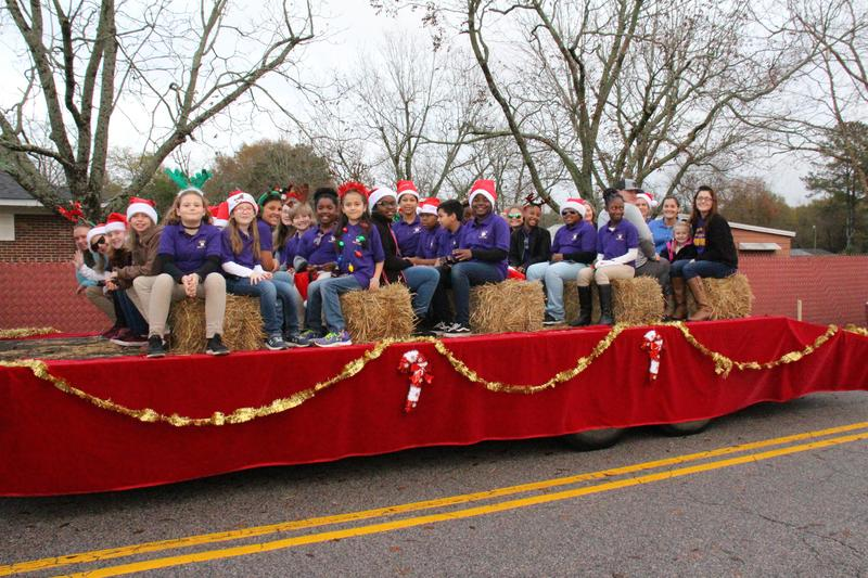 B-L Elementary School Staff Serves as Grand Marshal of Christmas Parade