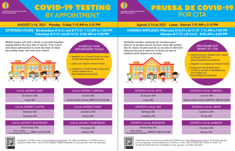 COVID Testing Locations & Hours Featured Photo