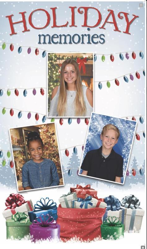 Holiday photos flyer