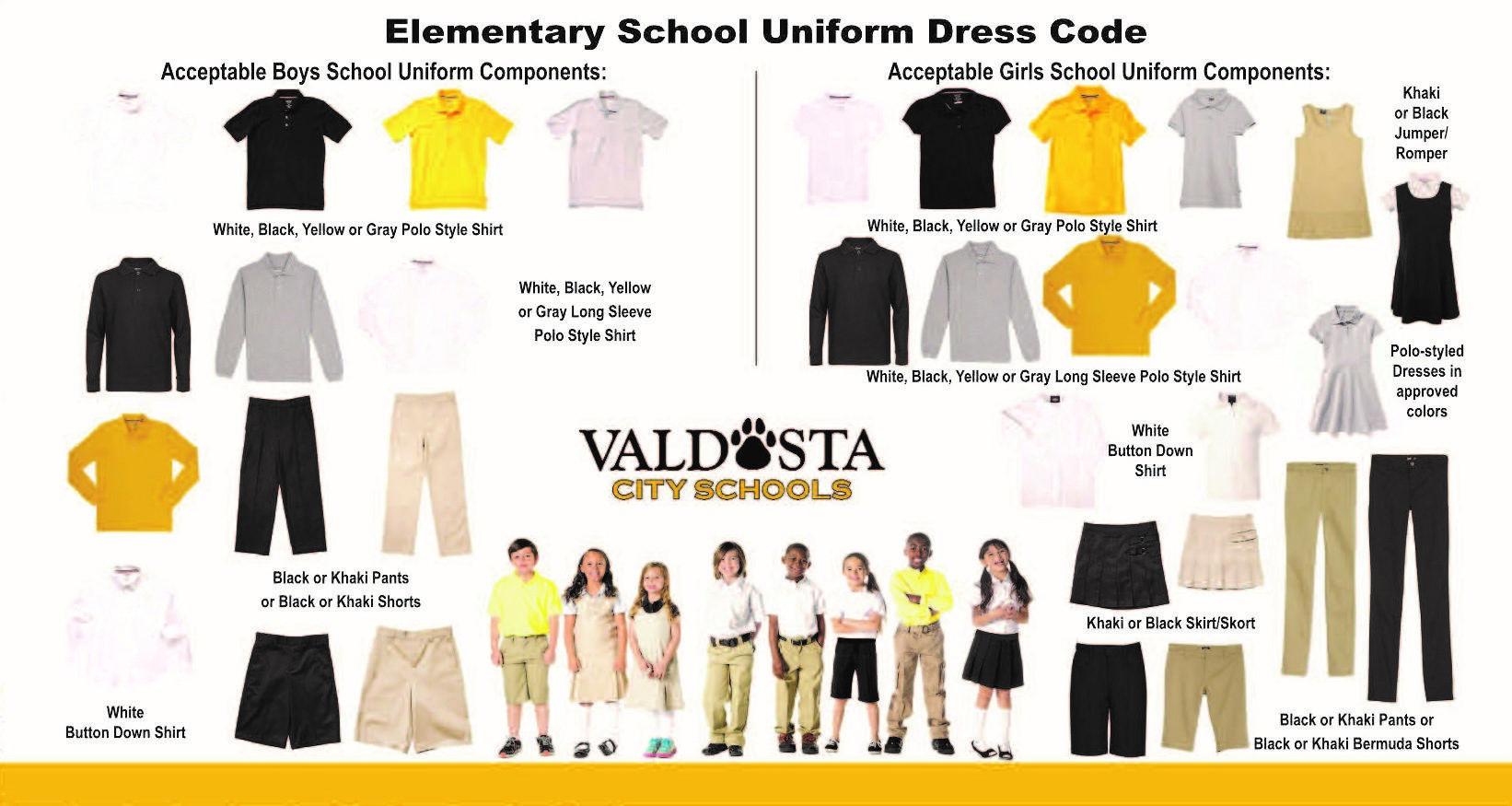 School Uniforms K 5th Grades Public Relations Valdosta City School District [ 875 x 1642 Pixel ]