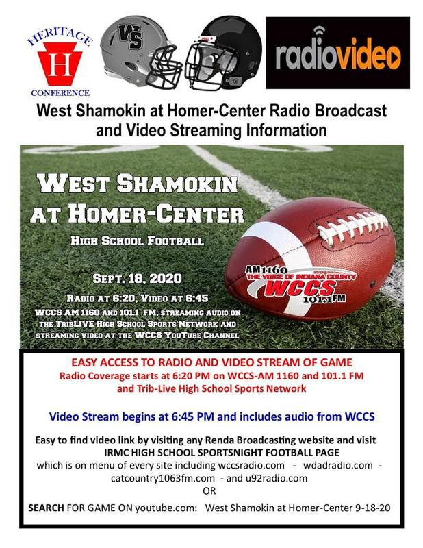 West Shamokin at Homer-Center Football