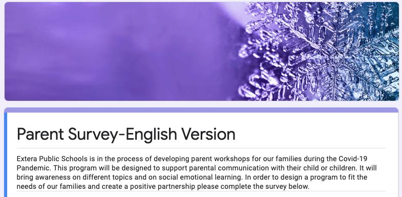 Parent Workshop Survey English Featured Photo