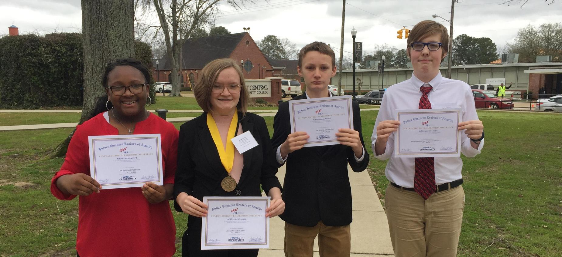 Picture of FBLA District competitors