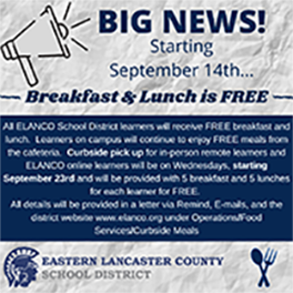 Free Meals Announcement Image