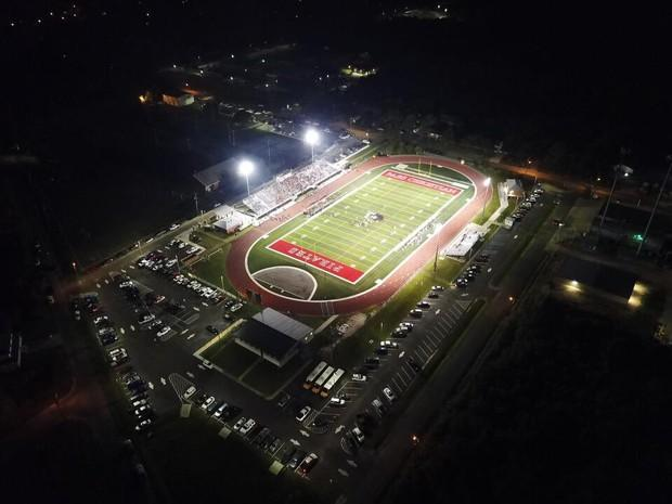 McDonald Stadium at Night