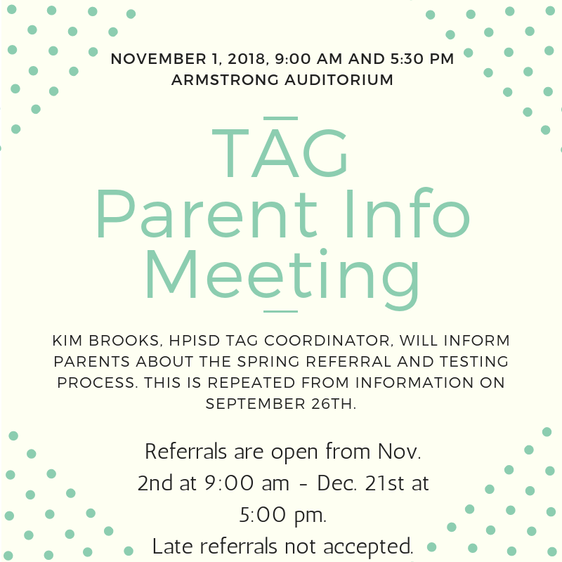 TAG Testing Parent Informational Meeting Featured Photo