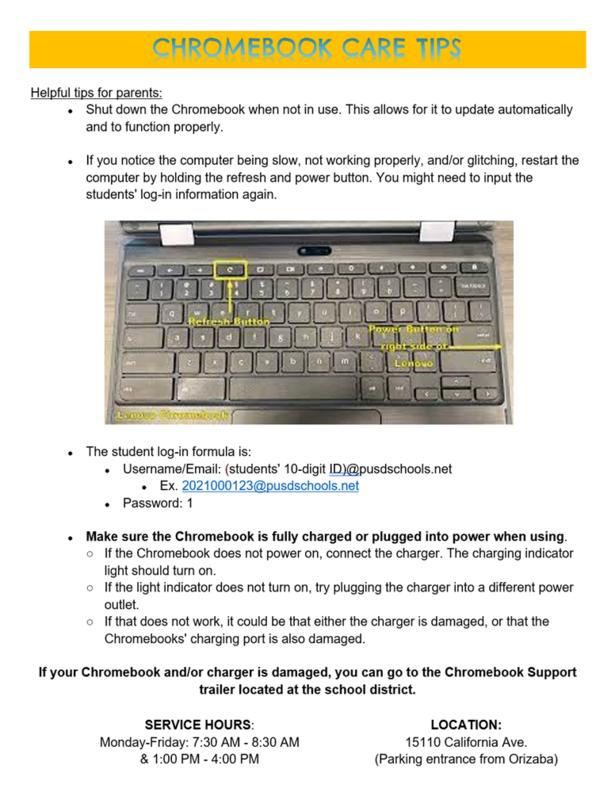 Chromebook Care Tips/Consejos para el cuidado de la Chromebook Featured Photo