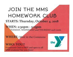 Join the MMS Homework Club