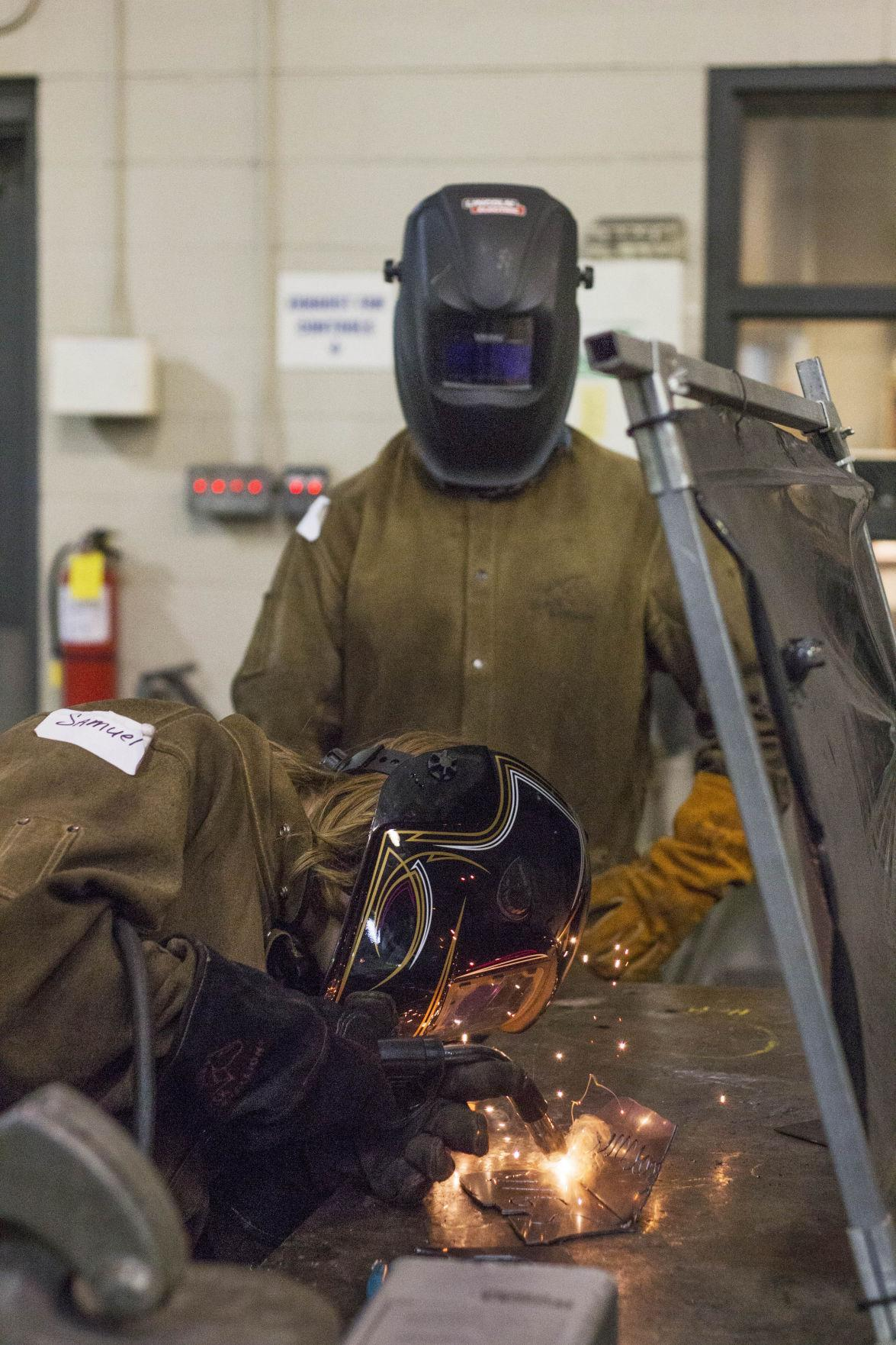 WHS Welding Student
