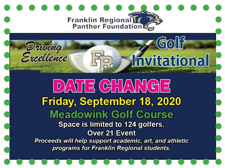 Golf Outing Date Change Card - 9/18