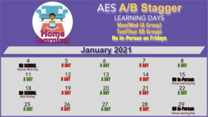 AES A/B STAGGER SCHEDULE FOR JANUARY 2021