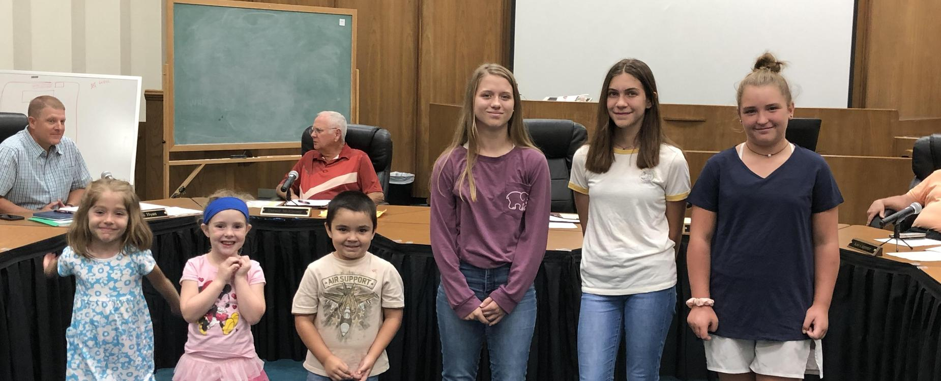 Character Award Recipients for August