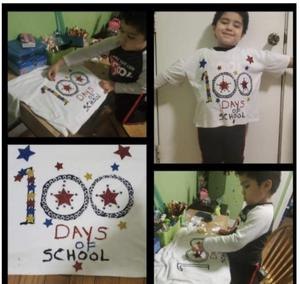 Making 100 days of school shirt collage