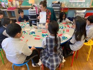 Marian Pintar teaching math in St. Paul