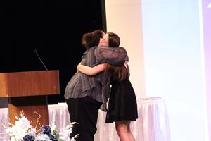 It was an evening of hugs for many students as their teachers presented awards for their departments