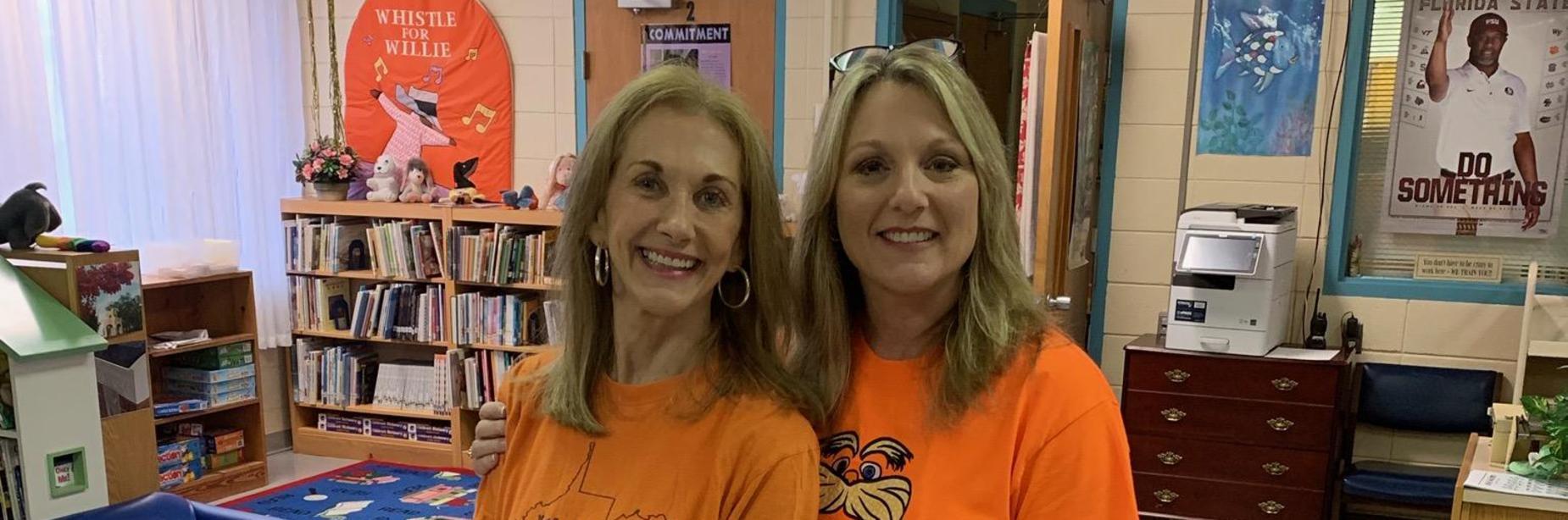 Mrs. Allen & Mrs. Connor celebrate Lorax Day!