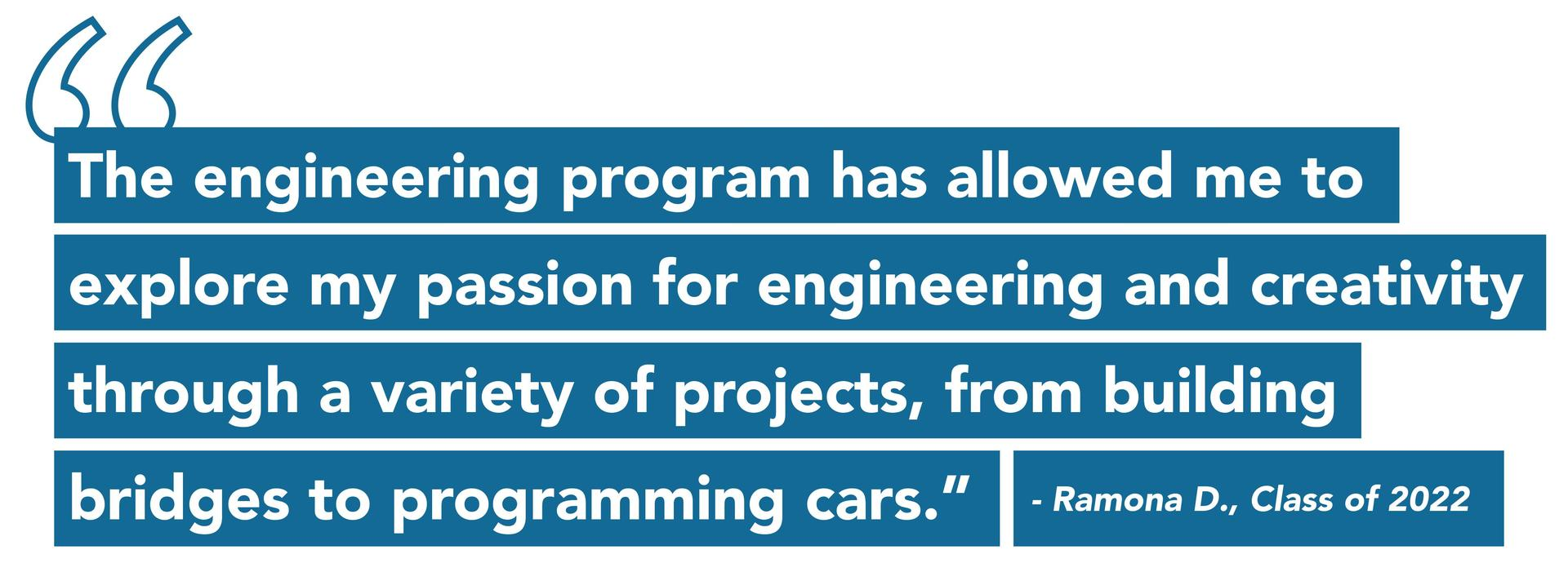 Quote from Prep Engineering Student