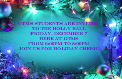 Holly Ball December 7 from 6:00pm to 8:00pm