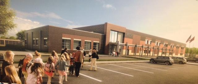 Artist rendering of new addition