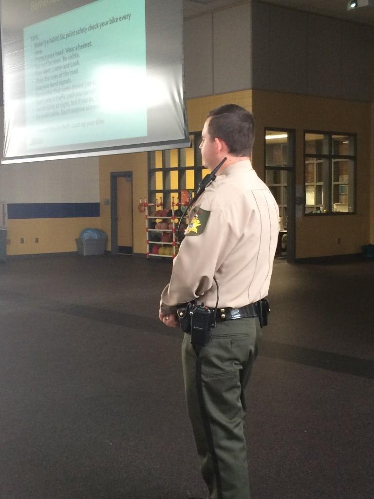 Sheriffs Dept. talk about Bike Safety