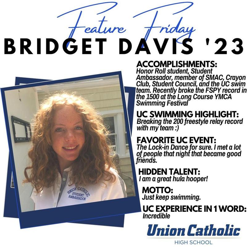 Bridget Davis has been a record-breaking machine in the pool, and also excels in the classroom at Union Catholic Thumbnail Image