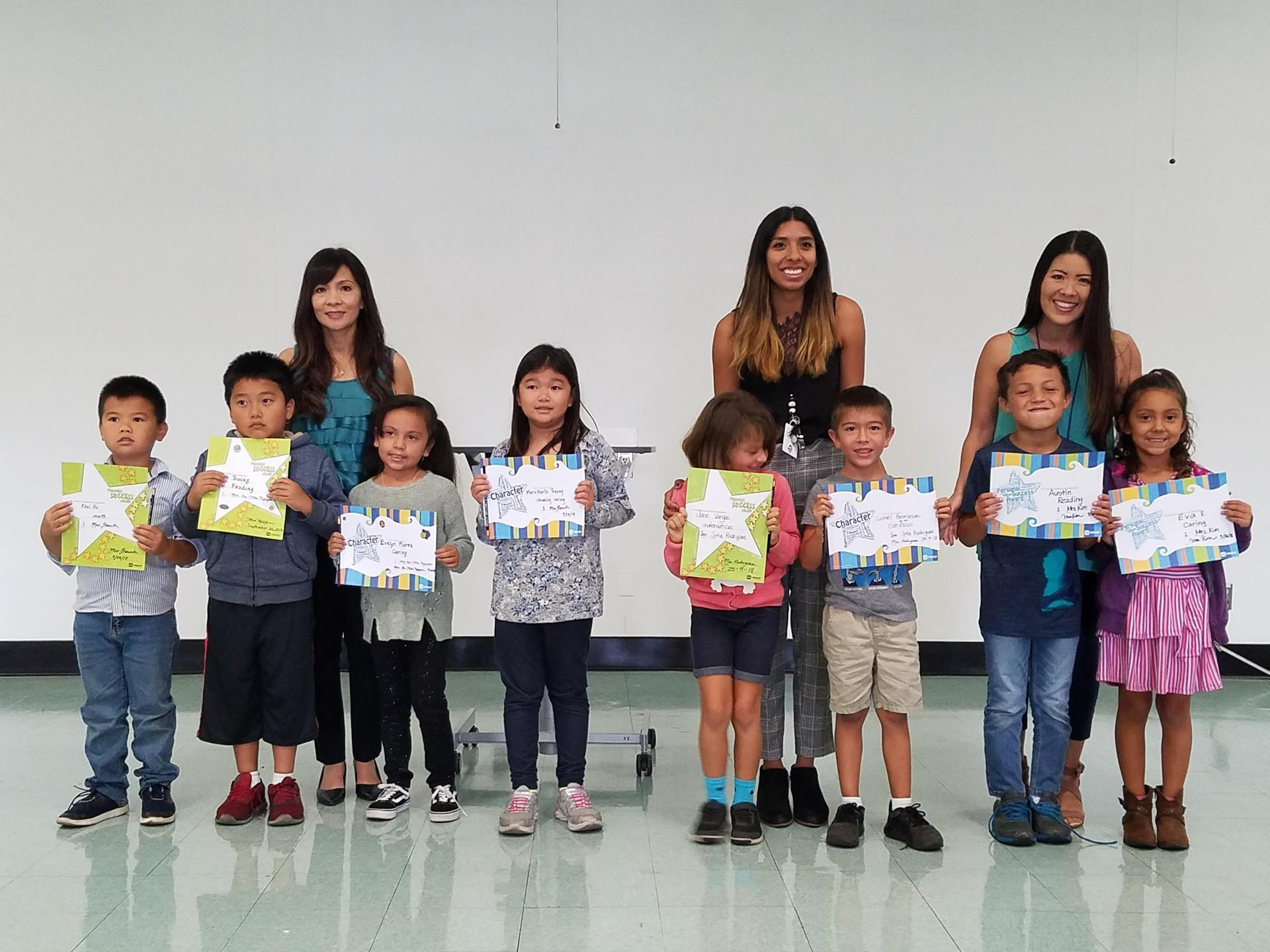 First Grade Honorees